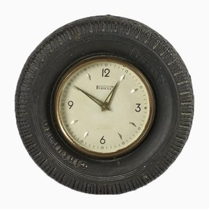 Italian Belted Advertising Clock from Pirelli, 1950s
