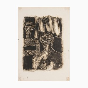 Figures - Original Monotype on Paper - 1950 ca. 1950 ca.