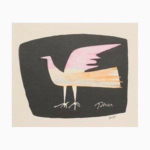 Bird - Original Lithographie von Emanuel Poirier - 1950s 1950s