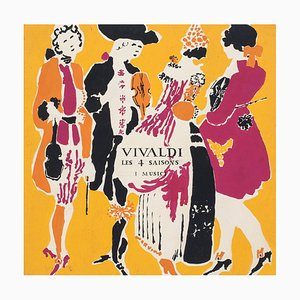 Sketch for the album cover of Vivaldi - Lithograph on Paper - Mid 1900 Mid 20th Century