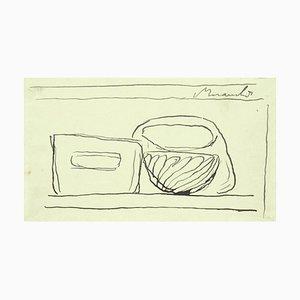 Boceto Still Life - Original de Giorgio Morandi - 1947 1947