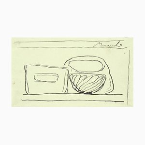 Still Life - Original Pen Drawing by Giorgio Morandi - 1947 1947