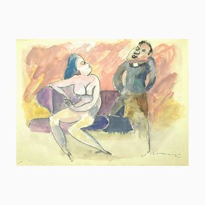 Figures - Mixed Media by Mino Maccari - 1960s 1960s