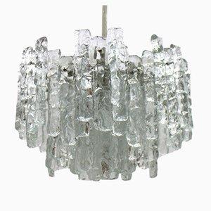 Lámpara de araña de vidrio de J. T. Kalmar para Kalmar, 1960