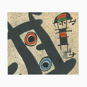 Berggruen Gallery Catalogue Cover - Lithographie von J. Mirò - 1970er 1970er Jahre