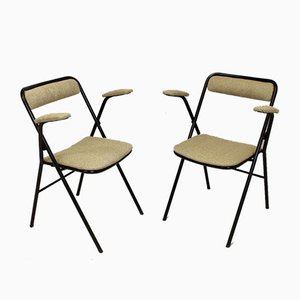 Folding Chairs with Armrests, 1974, Set of 2