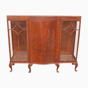 Chinese Mahogany Cabinet with Glass Shelves, 1920s