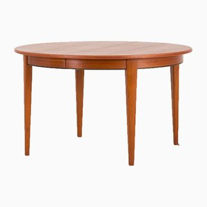 Model 55 Extendable Teak Dining Table from Omann Jun, 1960s