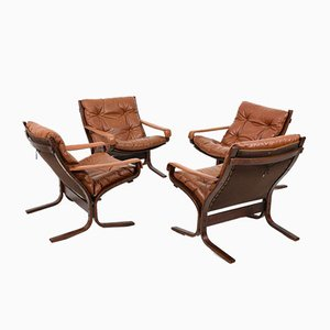 Siesta Lounge Chairs by Ingmar Relling for Westnofa, 1970s, Set of 4