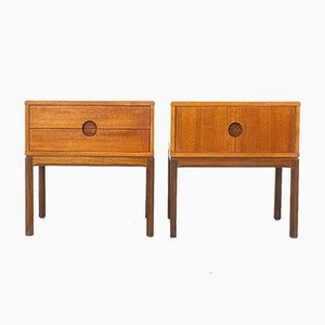 Model 384 Nightstands by Kai Kristiansen for Aksel Kjersgaard, 1950s, Set of 2