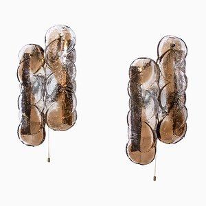 Apliques Citrus Swirl de cristal de Murano de JT Kalmar para Kalmar Franken KG, años 60. Juego de 2