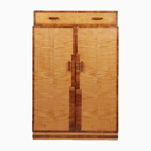 Art Deco Gentleman's Wardrobe in Sycamore