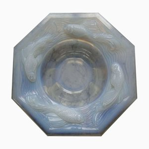 Vintage Opalescent Octagonal Bowl from Edmond Etling, 1930s