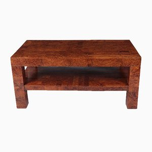 Italian Coffee Table in Burr Yew