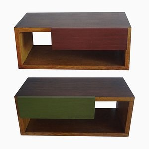 Rationalist Nightstands, 1950s, Set of 2