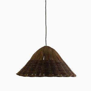 Scandinavian Style Rattan Ceiling Lamp, 1950s
