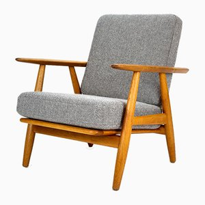 Solid Oak Cigar Chair by Hans J. Wegner for Getama, Denmark, 1950s