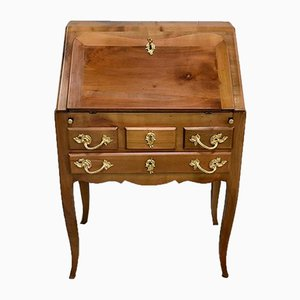 Small Office Slope Birch Desk in the Louis XV Style