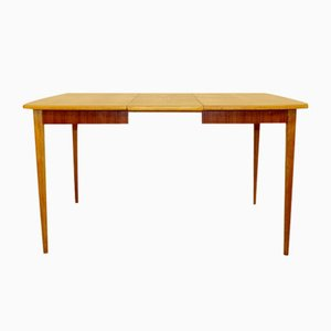 Swedish Teak and Oak Dining Table, 1950s