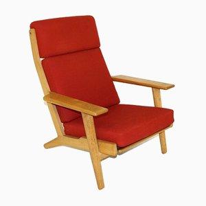 GE-290H Armlehnstuhl aus Eiche von Hans J.Wegner für Getama, 1960er