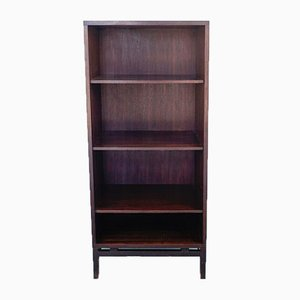 Braunes Vintage Bücherregal aus Teak mit 4 Regalen, 1970er