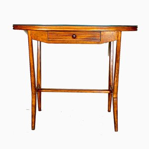 Small Italian Wooden Console Table, 1950s
