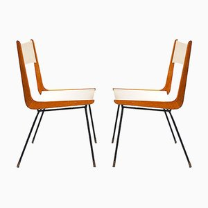 Model Boomerang Dining Chairs by Carlo de Carli, 1950s, Set of 2