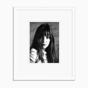 Jane Birkin Portrait Archival Pigment Print Framed in White by Everett Collection
