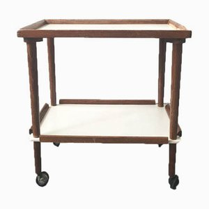 Mid-Century Beech & White Laminate Trolley