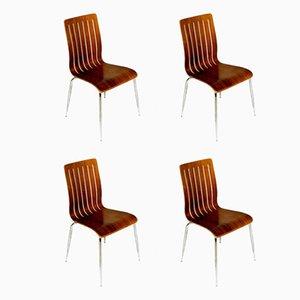 Danish Walnut Dining Chairs, 1960s, Set of 4