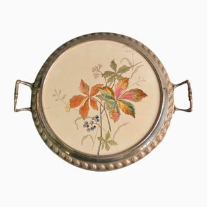 Antique Art Nouveau Ceramic Cake Plate