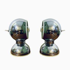 Italienische Verchromte Vintage Tischlampen aus Stahl von Goffredo Reggiani für Reggiani, 2er Set