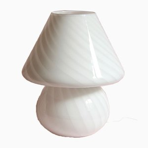 Vintage Swirl Murano Mushroom Lamp, Italy, 1970s