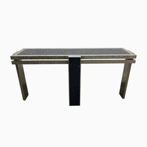 Aluminium Console Table, 1980s