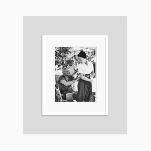 Yul Brynner and Janet Leigh Archival Pigment Print Framed in White by Bettmann