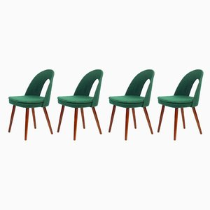 Tatra Green Fabric Dining Chairs by Antonín Šuman for Mier, 1962, Set of 4