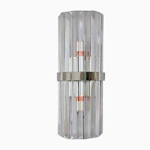 Applique in vetro e metallo cromato, anni '40