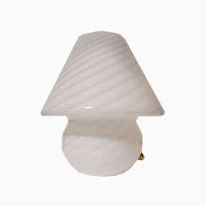 Murano Swirl Mushroom Table Lamp, 1970s