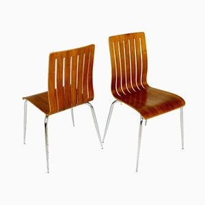 Danish Walnut Dining Chairs, 1960s, Set of 2