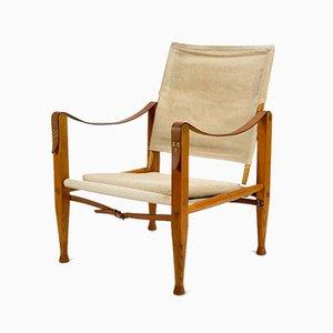 Safari Armlehnstuhl von Kaare Klint für Rud. Rasmussen, 1950er