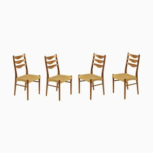 Danish Teak Dining Chairs by Arne Wahl Iversen for Glyngøre Stolefabrik, 1960s, Set of 4