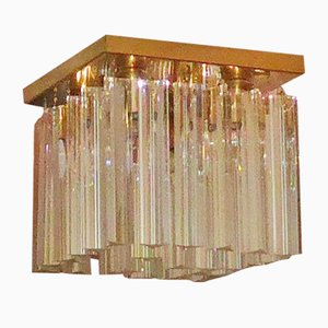 Vintage Trilobe Cube Form Ceiling Lamp by Paolo Venini for Venini