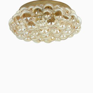 Amber Bubble Flush Mount by Helena Tynell for Limburg, 1960s