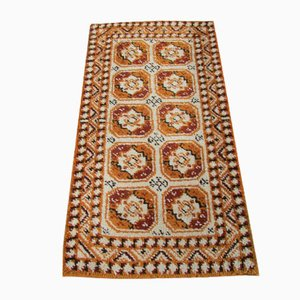 Small Orange Geometric Rug