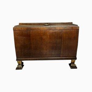 Trapezoidal Mahogany Cabinet