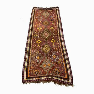 Vintage Turkish Purple, Brown & Black Kilim