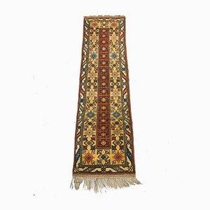 Türkischer Vintage Teppich in Rot, Grün & Beige aus Türkischer Terrakotta, 1950er