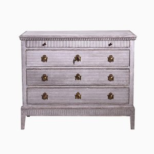 19th Century Gustavian Style Richly Carved Chest of Drawers