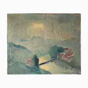 French Abstract Painting from André Sorbet, 1950s