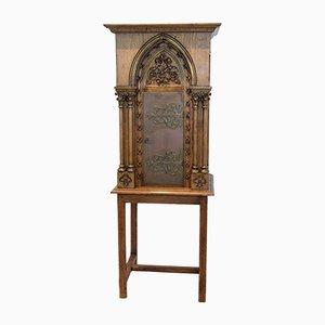 Oak Church Tabernacle Cabinet, 1920s